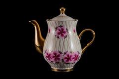 th för teapot för ryss för 19 århundrade fabriksporslin Fotografering för Bildbyråer