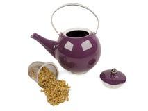th för teapot för ryss för 19 århundrade fabriksporslin arkivfoto