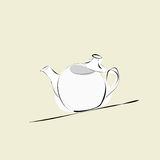 th för teapot för ryss för 19 århundrade fabriksporslin Royaltyfria Bilder