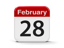 28th Februari kalender stock illustrationer