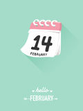 14th february on calendar for valentine concept. 14th february on calendar for valentine concept stock illustration