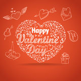 14th February collection. Happy Valentine`s Day elements. Happy Valentine`s Day elements. vector illustration Royalty Free Stock Photo