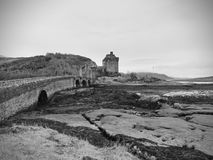 7th of February , 2017 ISLE OF SKYE, SCOTLAND - Eilan Donan Castle. Fortified castle built in the mid 13th century Stock Photos