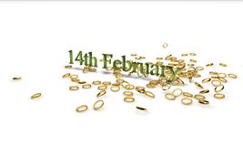 14th February. Valentine`s Day Stock Photo