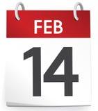 14th February Valentines Agenda Calendar Concept.  Stock Photo