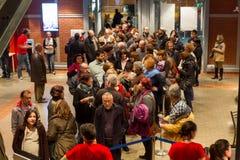 55th festival de cinema internacional de Tessalónica no cinema de Olympion Fotos de Stock