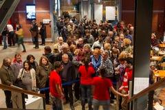 55th festival de cinema internacional de Tessalónica no cinema de Olympion Imagem de Stock Royalty Free