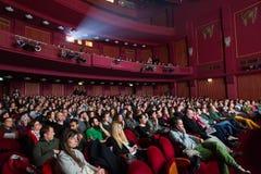 55th festival de cinema internacional de Tessalónica no cinema de Olympion Fotografia de Stock Royalty Free