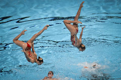 15th Fina world Championship syncro swimming technical team Stock Photo