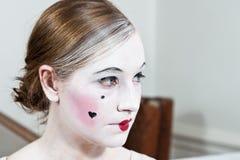 18th flicka för århundradetappningsmink Arkivfoton