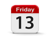 13th Friday. Calendar web button - 13th Friday, three-dimensional rendering Stock Photos