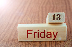 13 th Friday. Royalty Free Stock Photography