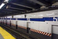 59th gata Columbus Circle Subway Station Royaltyfri Foto