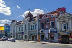 8th gata för mars i Yekaterinburg Royaltyfria Bilder
