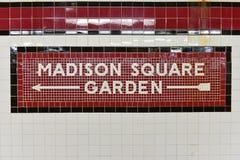 34th gata Penn Station Subway Stop - NYC Fotografering för Bildbyråer