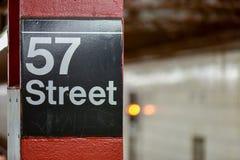 57th gatagångtunnel - New York City Fotografering för Bildbyråer