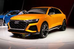 Audi Q8 at Geneva 2017 royalty free stock photography