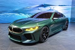 88th Geneva International Motor Show 2018 - BMW M8 Gran Coupe royalty free stock photos