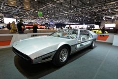 88th Geneva International Motor Show 2018 - Lamborghini Marzal 1967 concept stock photography