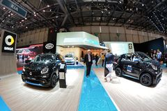 88th Geneva International Motor Show 2018 - Smart stand royalty free stock image