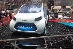88th Geneva International Motor Show 2018 - Smart vision EQ concept. Daimler's city-car brand, smart, has shown its hand on urban mobility stock images
