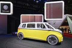 88th Geneva International Motor Show 2018 - Volkswagen I.D. Buzz. Volkswagen I.D. Buzz electric self-driving camper presented at the 88th Geneva International Stock Image