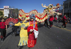 115th Golden Dragon Parade, Chinese New Year, 2014, Year of the Horse, Los Angeles, California, USA Royalty Free Stock Photos