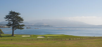 18th Green at Pebble Beach Golf Resort Royalty Free Stock Images
