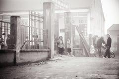 24th 2012 Grudzień, Sapa wioska, Wietnam Zdjęcie Stock