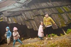24th 2012 Grudzień, Sapa wioska, Wietnam Obrazy Royalty Free