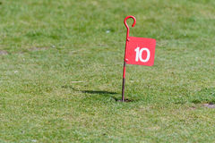 10th hole on golf putting course Stock Images