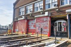 240th iarda del treno della via (Van Cortlandt Yard) Immagini Stock