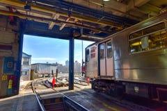 240th iarda del treno della via (Van Cortlandt Yard) Immagini Stock Libere da Diritti