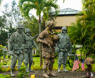25th Infantry Division Memorial, Oahu, Hawaii Stock Photos