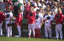 7th inning rozciągliwość przy Fenway parkiem obrazy royalty free