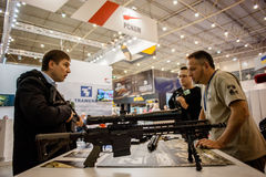 13th international exhibition of armaments Arms and Security 2016. October 11, 2016. Kyiv, Ukraine. 13th international exhibition of armaments Arms and Security Stock Photos