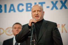 13th international exhibition of armaments Arms and Security 2016. October 11, 2016. Kyiv, Ukraine. Secretary of RNBO of Ukraine Oleksandr Turchynov during the Stock Image