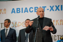 13th international exhibition of armaments Arms and Security 2016. October 11, 2016. Kyiv, Ukraine. Secretary of RNBO of Ukraine Oleksandr Turchynov during the Stock Photos