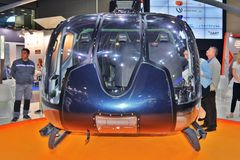 People visit 11th international exhibition of helicopter industry HeliRussia 2018. 11th international exhibition of helicopter industry HeliRussia 2018. Public Royalty Free Stock Photography