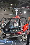11th international exhibition of helicopter industry HeliRussia 2018. Public exhibition of modern helicopters, business and civil. Place: Crocus Expo, Moscow Stock Photo