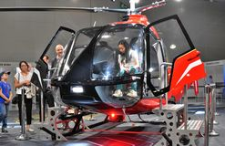 11th international exhibition of helicopter industry HeliRussia 2018. Public exhibition of modern helicopters, business and civil. Place: Crocus Expo, Moscow Royalty Free Stock Images