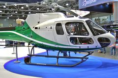 11th international exhibition of helicopter industry HeliRussia 2018. Public exhibition of modern helicopters, business and civil. Place: Crocus Expo, Moscow Stock Image
