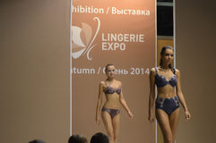 5th International Exhibition of underwear, beachwear, home wear and hosiery Desire Royalty Free Stock Images