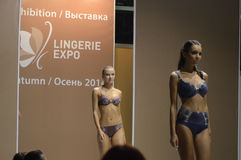 5th International Exhibition of underwear, beachwear, home wear and hosiery Sexy Royalty Free Stock Photos