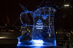 The 20th International Ice Sculpture Festival in the Jelgava Latvia. 02.11.2018 The 20th International Ice Sculpture Festival in the Jelgava Latvia. This year Stock Image