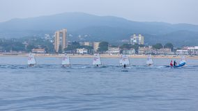 29th INTERNATIONAL PALAMOS OPTIMIST TROPHY 2018, 13TH NATIONS CUP, 16 Feb. 2018 , Town Palamos, Spain.  stock photo