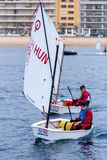 29th INTERNATIONAL PALAMOS OPTIMIST TROPHY 2018, 13TH NATIONS CUP, 16 Feb. 2018 , Town Palamos, Spain Royalty Free Stock Images