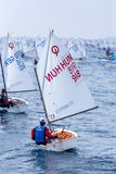 29th INTERNATIONAL PALAMOS OPTIMIST TROPHY 2018, 13TH NATIONS CUP, 16 Feb. 2018 , Town Palamos, Spain Royalty Free Stock Photo