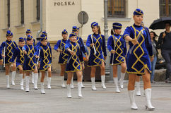 The 42th International Scout Festival of School Youth. Majorette Stock Image