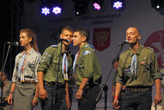 The 42th International Scout Festival of School Youth. Stock Images